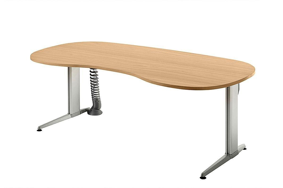 Da dieser Tisch Elektrisch höhenverstellbar ist kann man auch im stehen arbeiten. So muss man nicht den ganzen Tag im sitzen zocken
