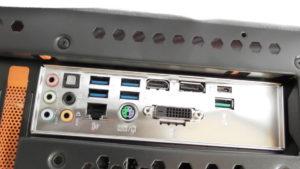 Rückseite Gamer Computer Anschlüsse Mainboard