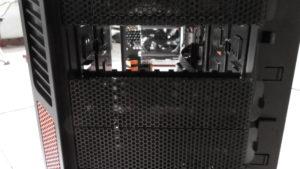 Gehäuse Voderansicht Gaming Computer